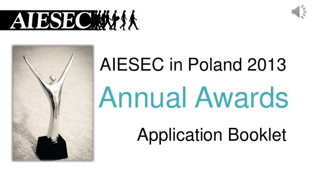 AIESEC in Poland 2013  Annual Awards Application Booklet