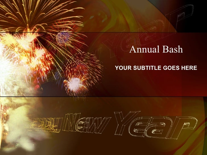 New Year PowerPoint Template-Annual Bash