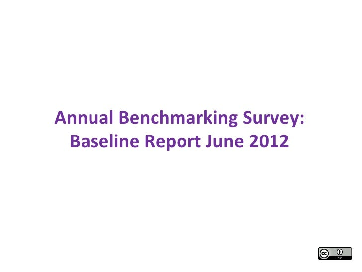 Annual benchmarking baseline survey report