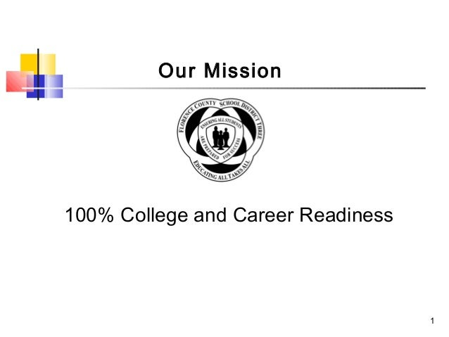 Our Mission100% College and Career Readiness                                    1