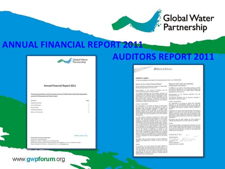 ANNUAL FINANCIAL REPORT 2011                     AUDITORS REPORT 2011