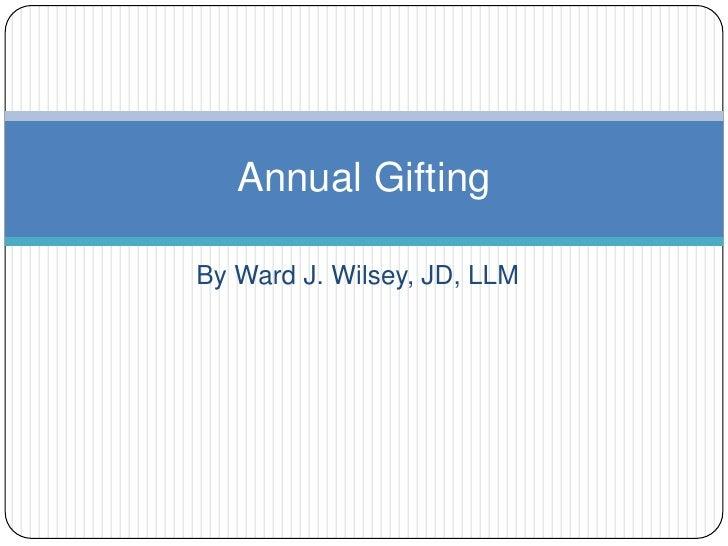 By Ward J. Wilsey, JD, LLM<br />3655 Nobel Dr. Suite 345<br />San Diego, CA 92122<br />(858) 764-2672<br />Please send an ...