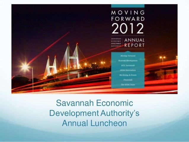 Savannah EconomicDevelopment Authority'sAnnual Luncheon