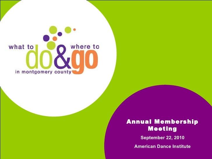Annual Meeting Do & Go 9.22.10