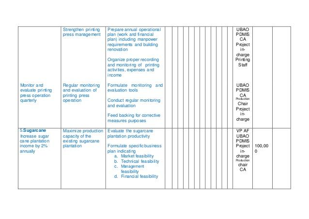 operational plan template template