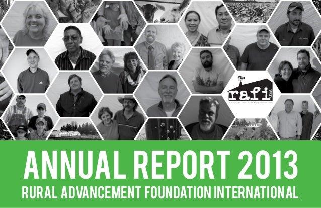 RAFI Annual Report 2013