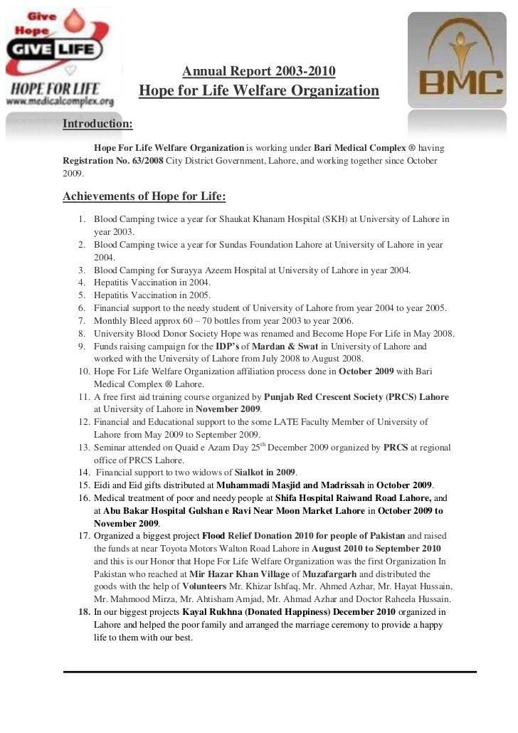 5035677-744220-834517-802640Annual Report 2003-2010Hope for Life Welfare Organization<br />Introduction: <br />Hope For Li...