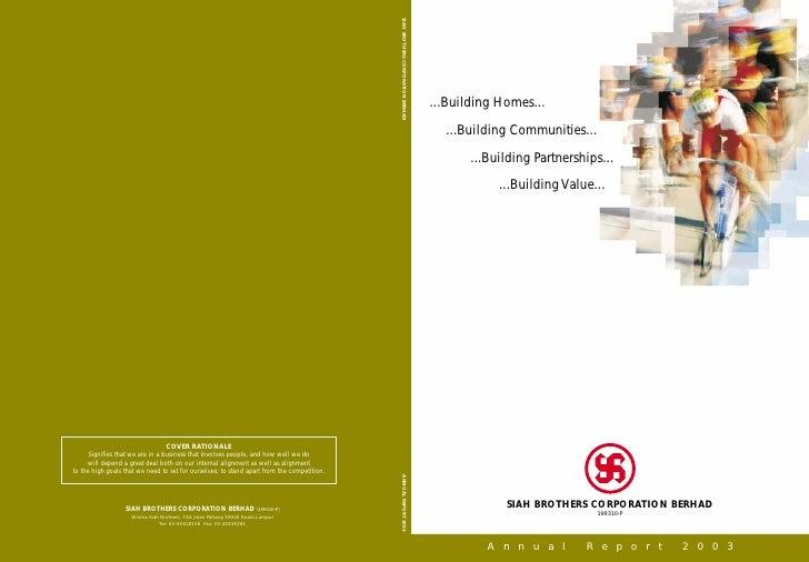 SBC Corporation Berhad: Annual Report 2003 1400kb
