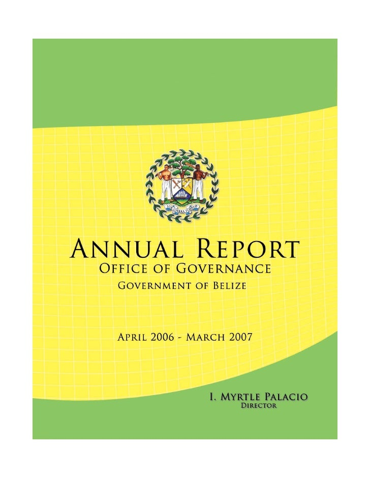 Annual Report 2006 to 2007:  Office of Governance