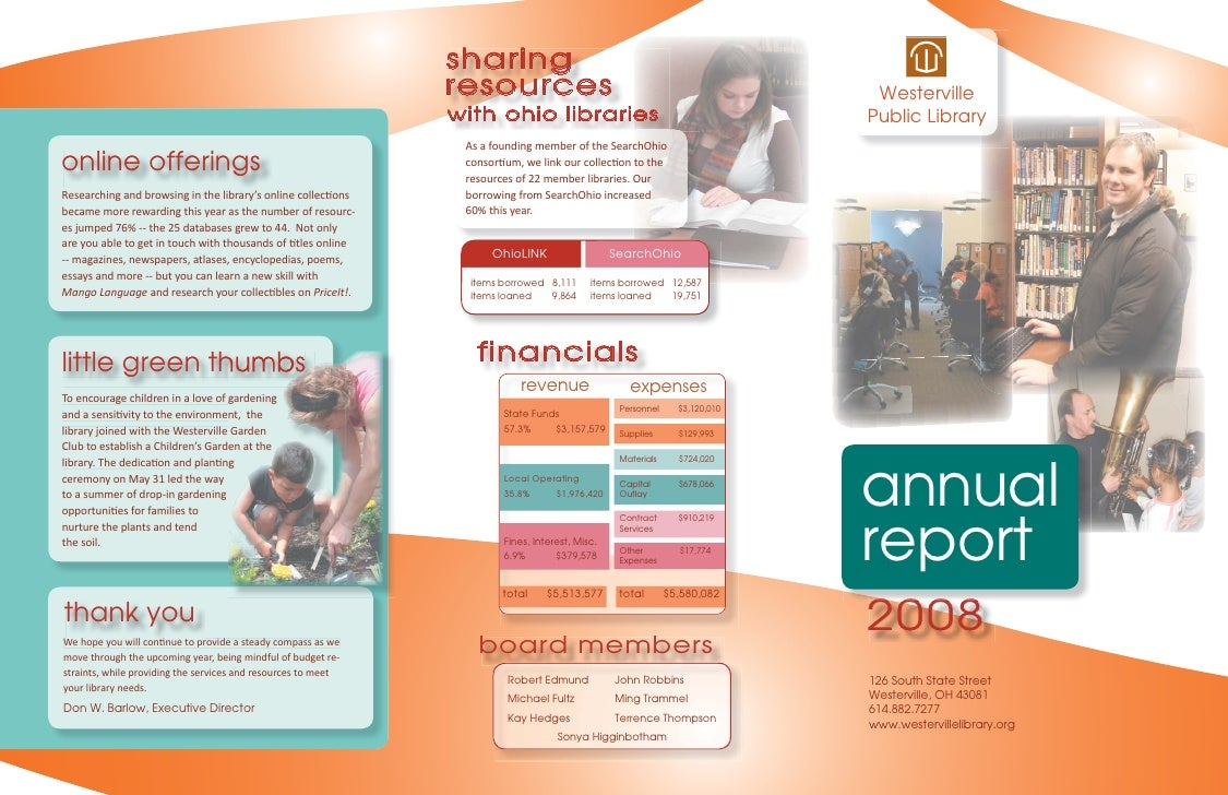Annual Report 2008: Westerville Library