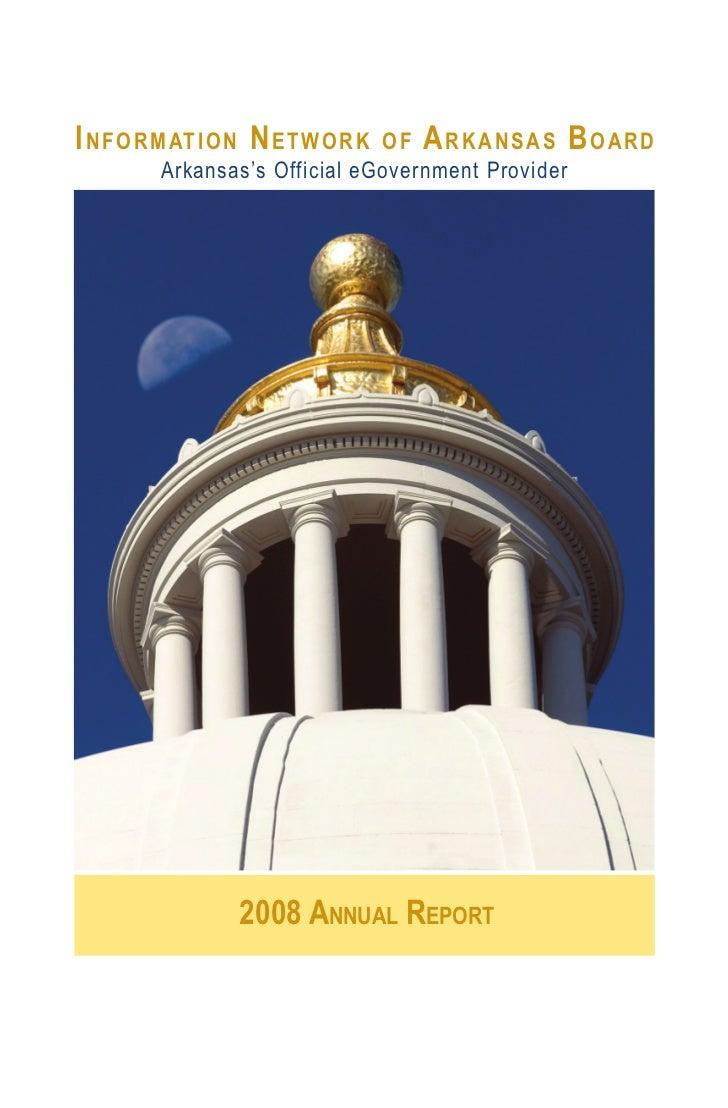 I N F O R M AT I O N N E T W O R K                               OF ARKANSAS BOARD         Arkansas's Official eGovernment...