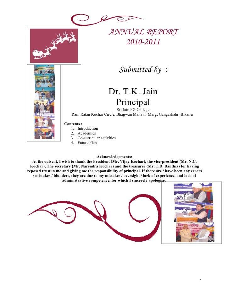 ANNUAL REPORT                                                  2010-2011                                                  ...