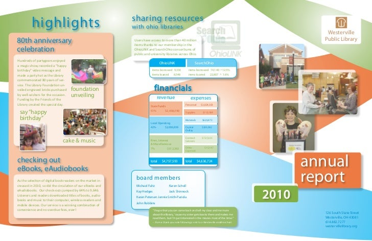 Annual Report 2010: Westerville Library