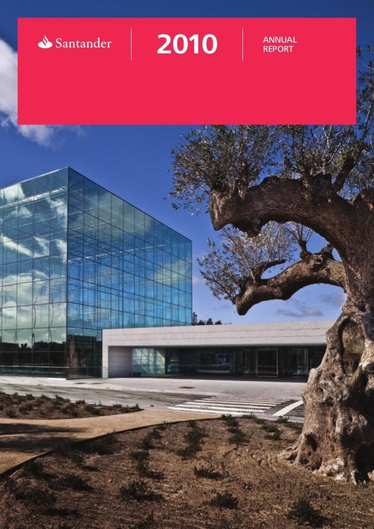 Santander Bank Annual Report 2010