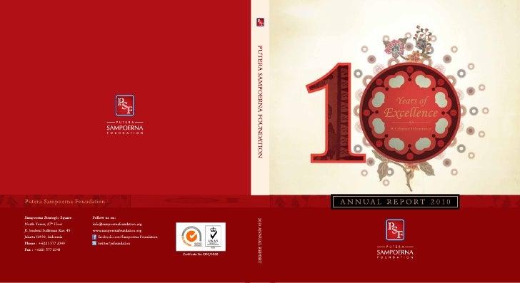 Putera Sampoerna Foundation Annual Report 2010