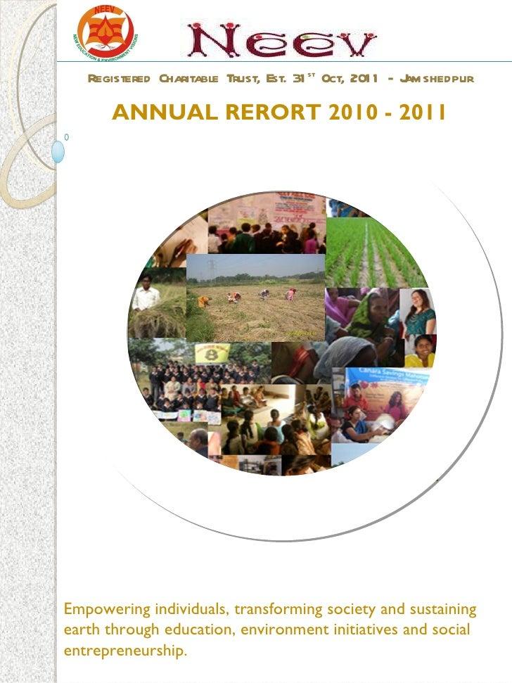 NEEV Annual Report 2010-11