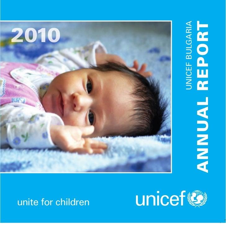 UNICEF BULG RI                 A AANNUAL REPORT