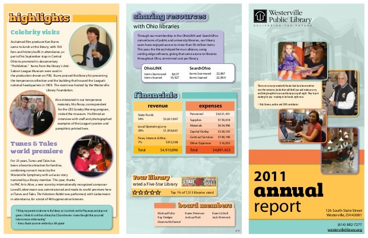 Annual Report 2011: Westerville Library