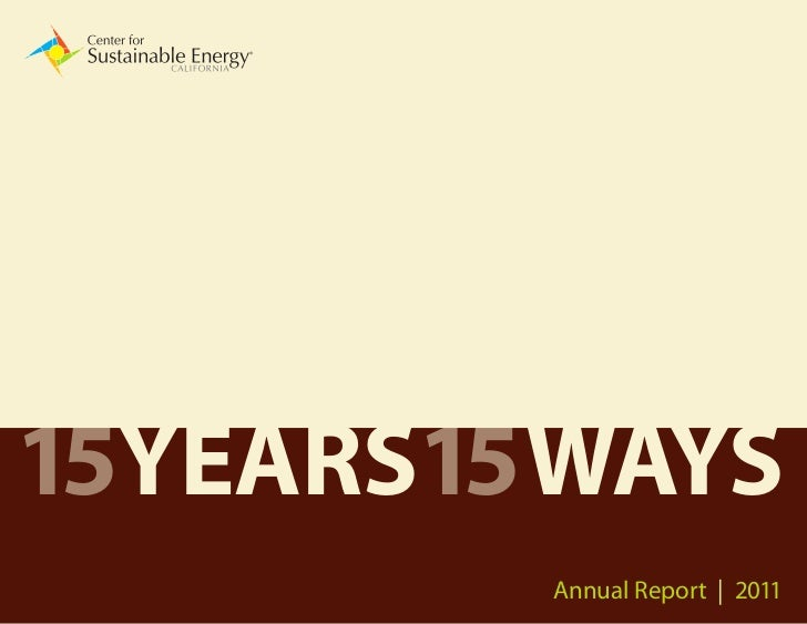 15YEARS15 WAYS         Annual Report | 2011                            1