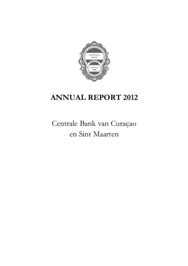 Central Bank of Curacao & St.Maarten's Annual report 2012
