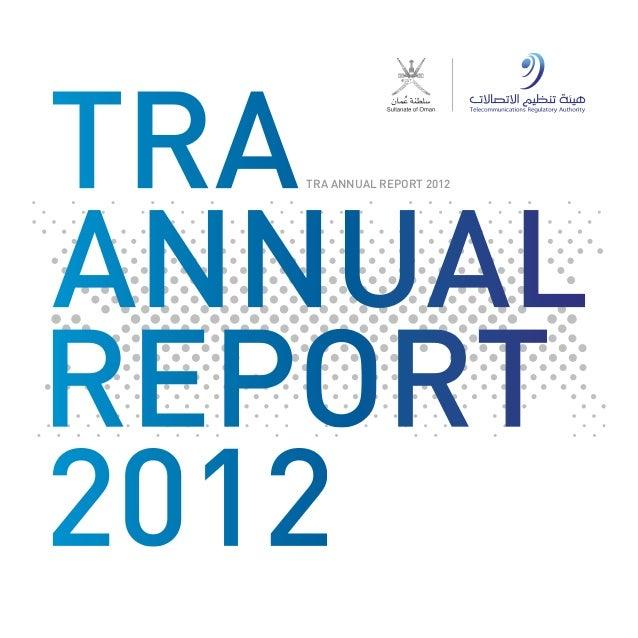 TRA ANNUAL REPORT 2012