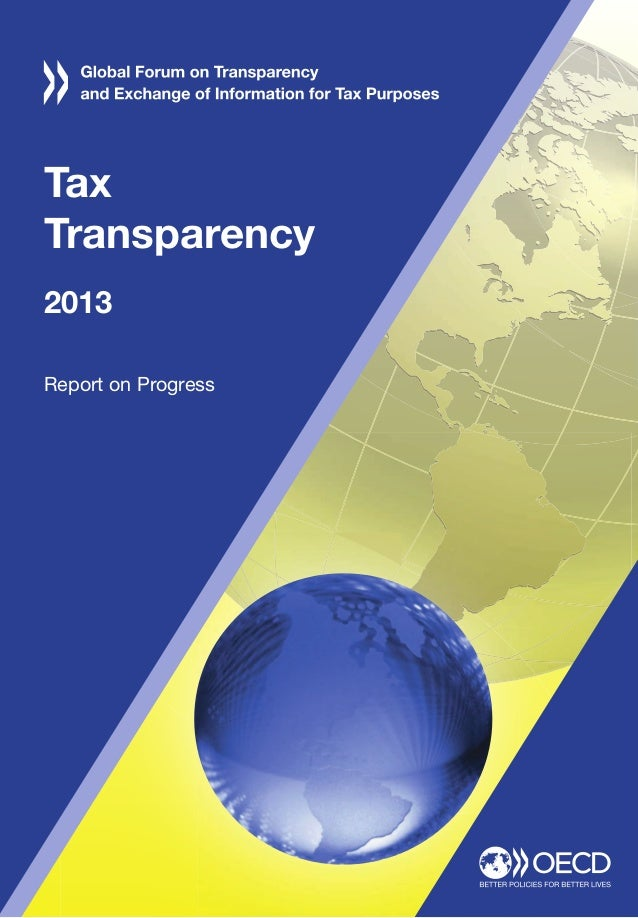 Tax Transparency 2013 Report on Progress