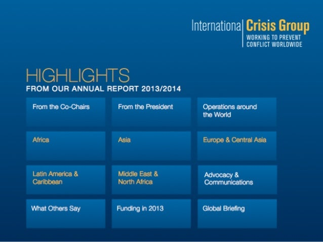 International Crisis Group Annual Report 2014