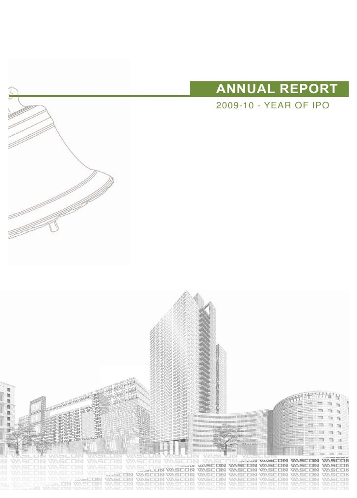 ANNUAL REPORT2009-10 - YEAR OF IPO