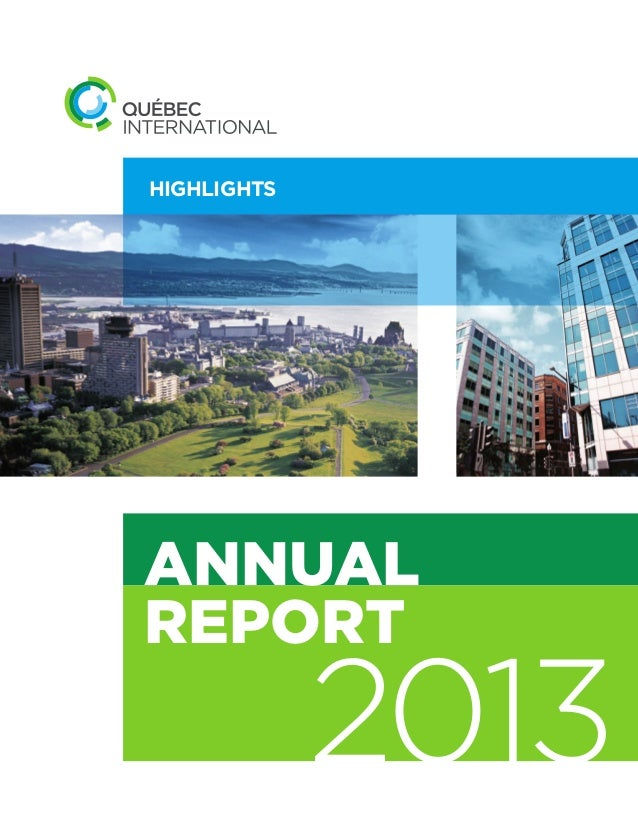 Québec International 2013 annual report