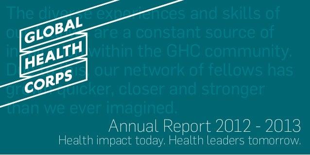 GHC Annual Report 2012-2013