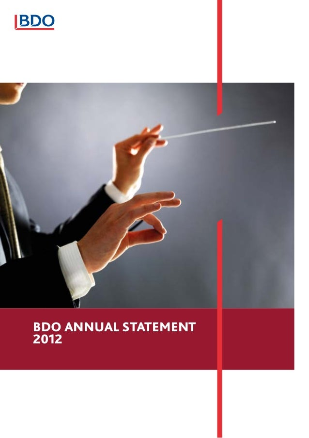 BDO ANNUAL STATEMENT2012