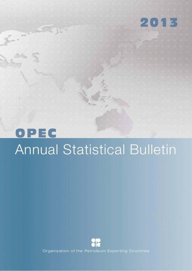 OPEC: Venezuela - Annual statistical bulletin 2013