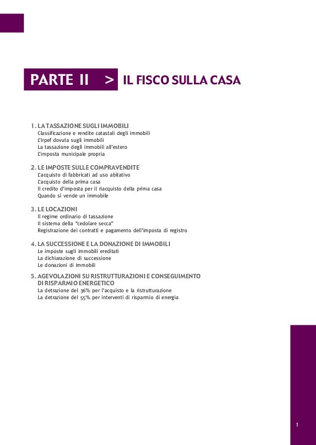 IMPOSTE SULLA CASA Annuario 2012