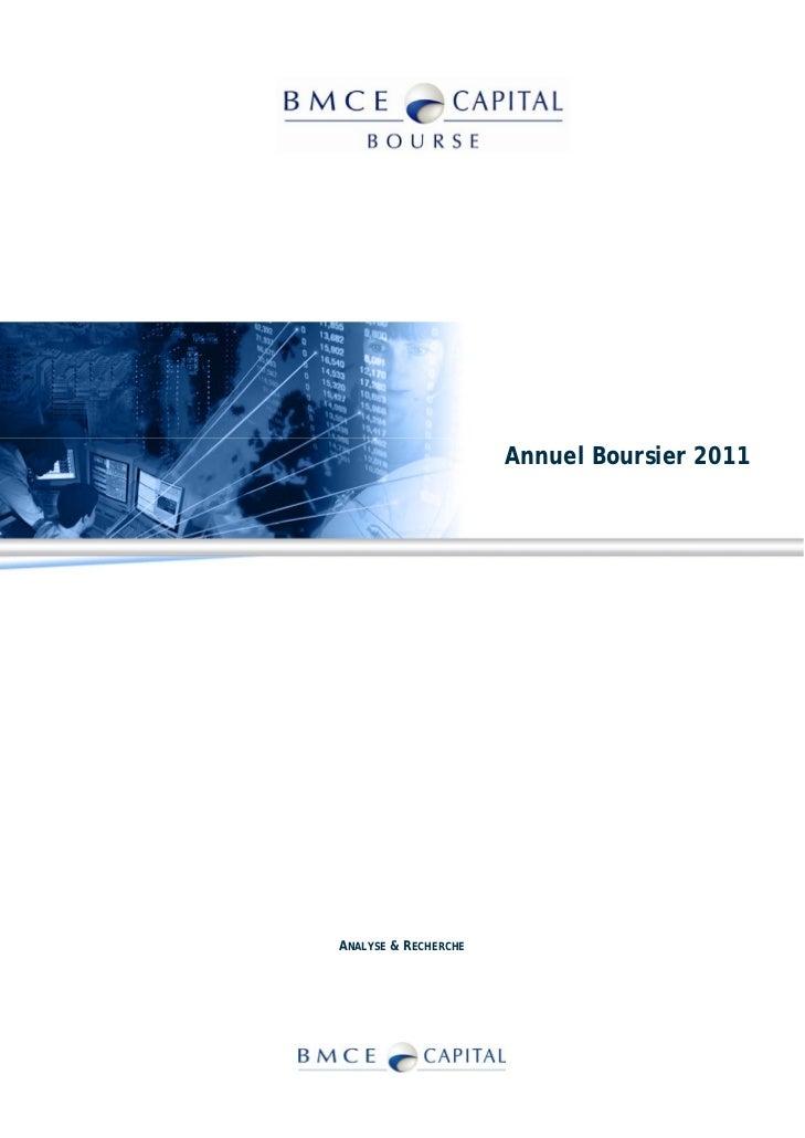 Annuel Boursier 2011ANALYSE & RECHERCHE