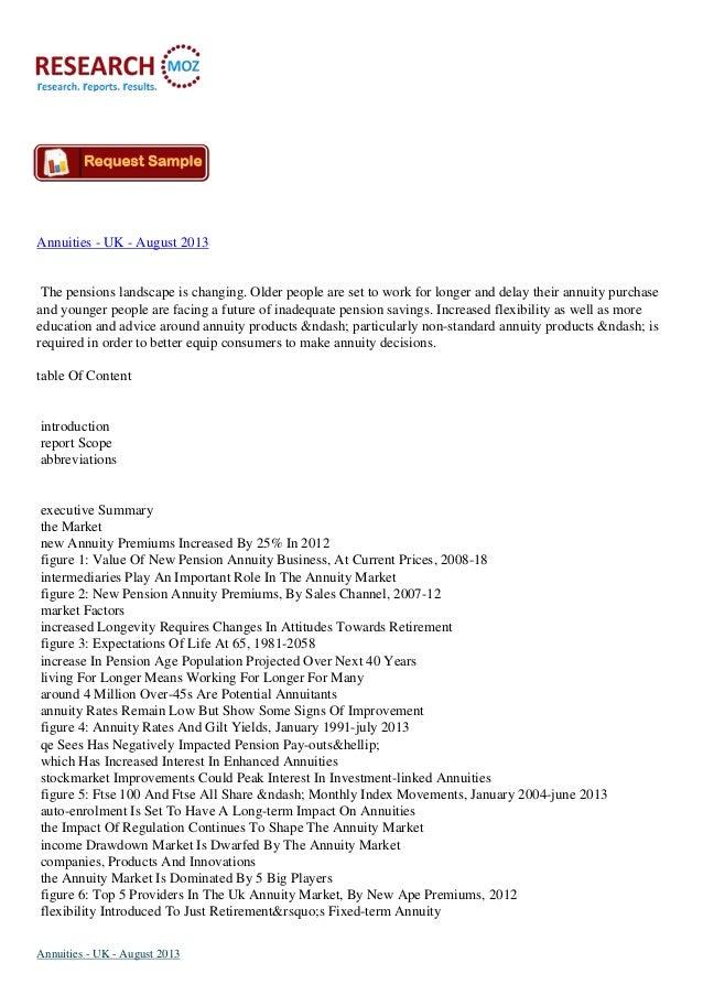 Annuities   uk - august 2013