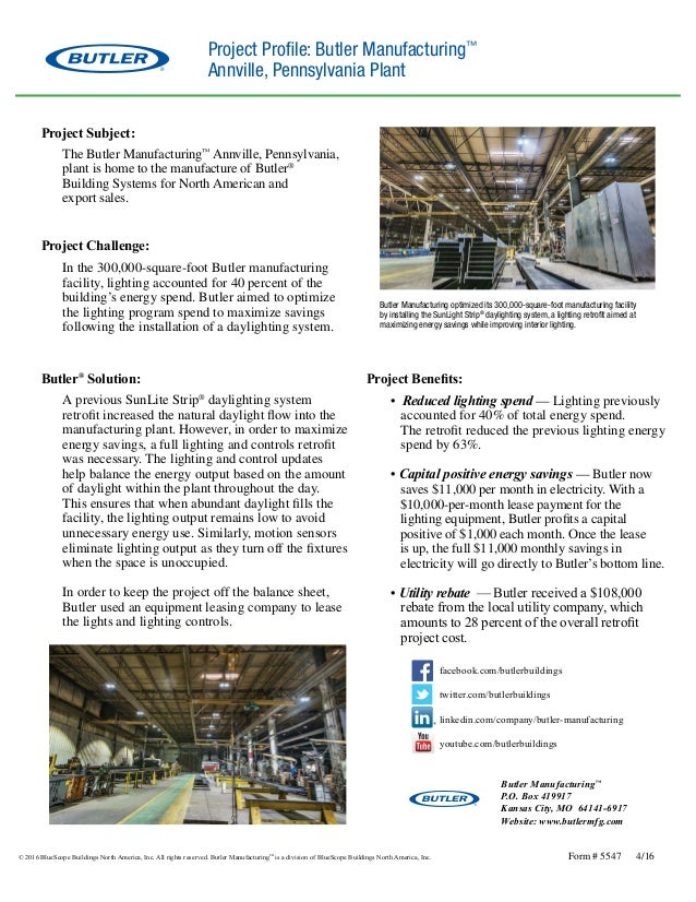Butler Manufacturing Annville Plant Profile