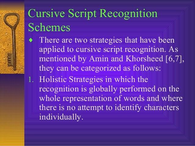 Handwritten Script Recognition Cursive Script Recognition