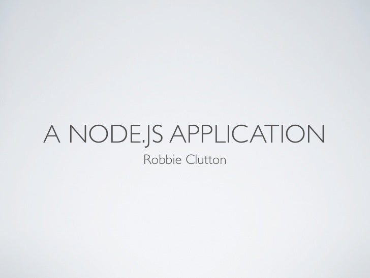 A nodejs application
