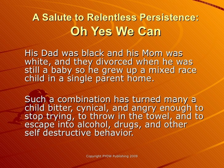 An Ode To Relentless Persistence