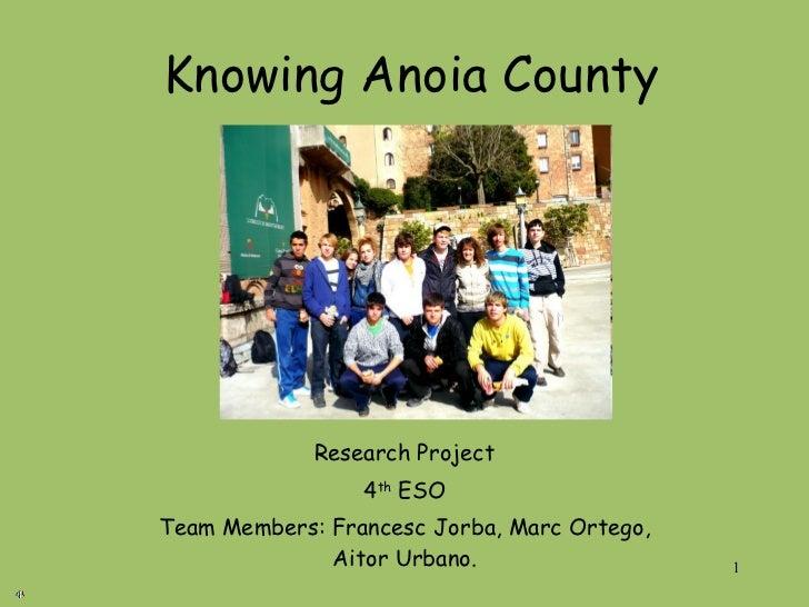 Anoia county 2009/10 grup 4 - INS Montbui