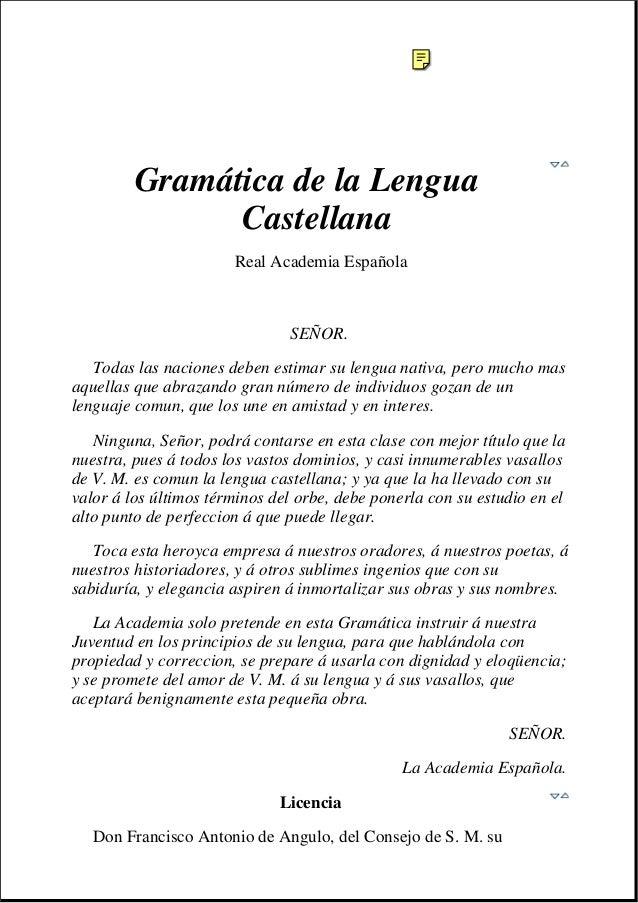 Gramática de la Lengua               Castellana                       Real Academia Española                              ...