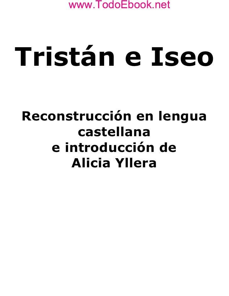 Libro Tristan e Iseo