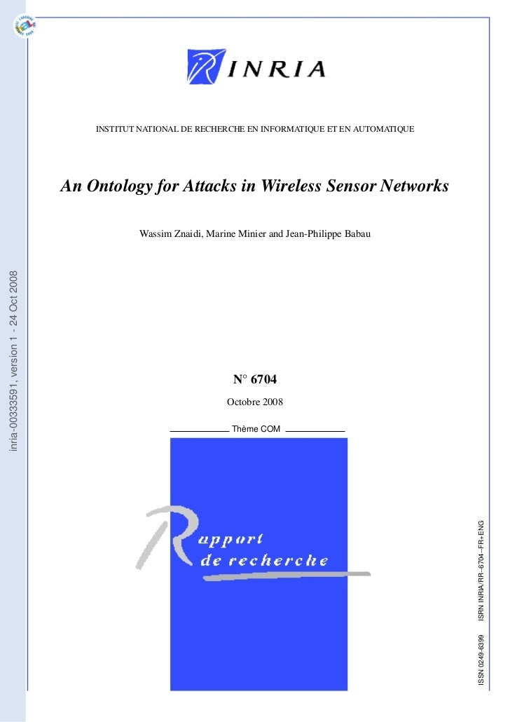 An ontology for attacks in wireless sensor networks