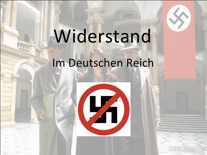 Widerstand Im Deutschen Reich