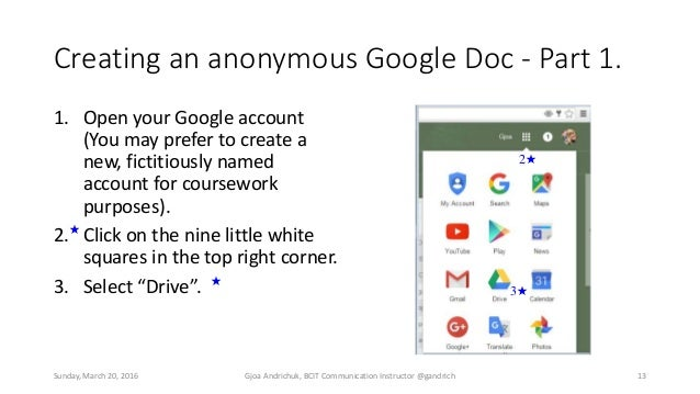 how to make google doc anonymous