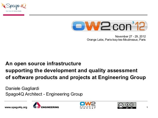 An Open Source Infrastructure supporting the development and Quality assessment of software products and projects at Engineering Group, OW2con'12, Paris