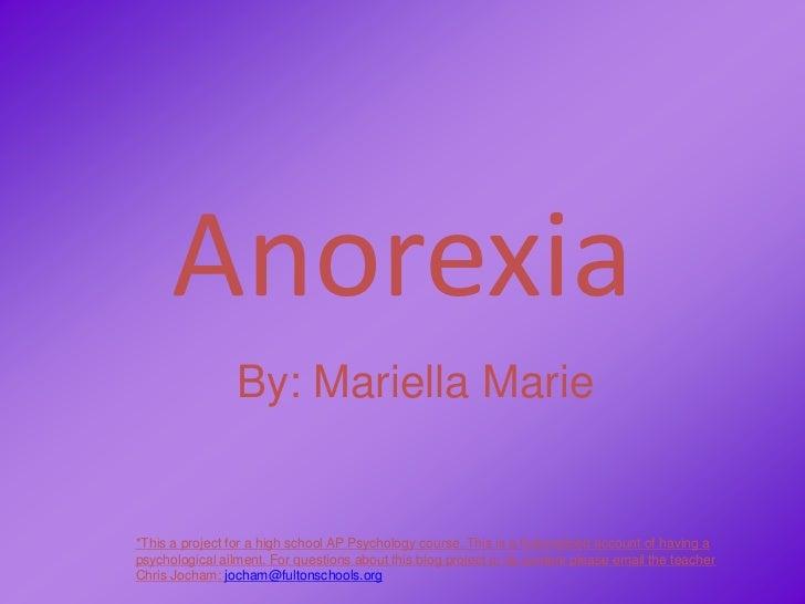 Anorexia by Mariella Marie