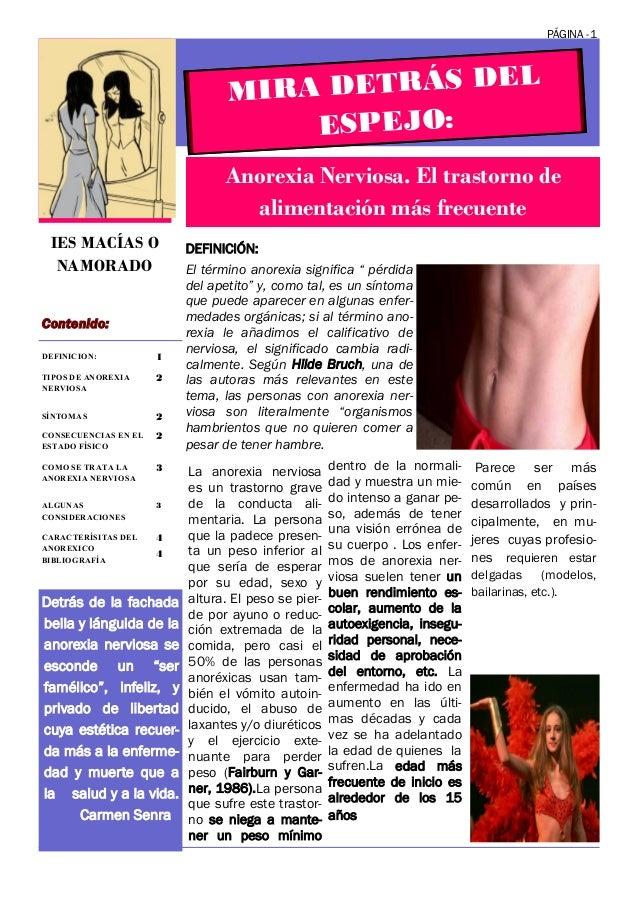Revista, Anorexia,