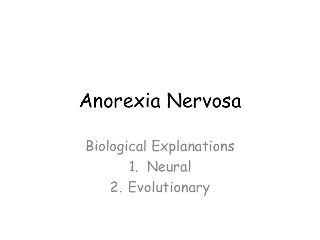 good thesis statement for anorexia nervosa