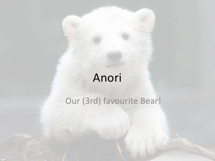 AnoriOur (3rd) favourite Bear!